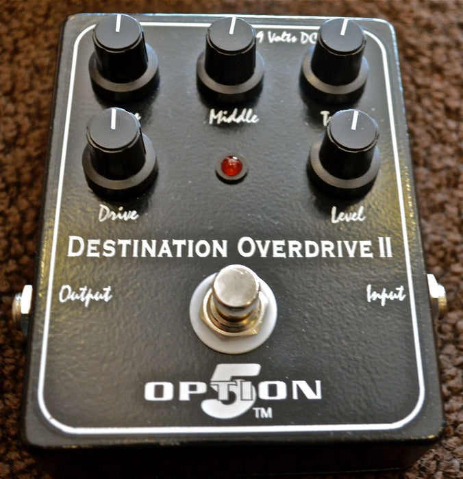 Used Option 5 Destination Overdrive II Guitar Effect Pedal