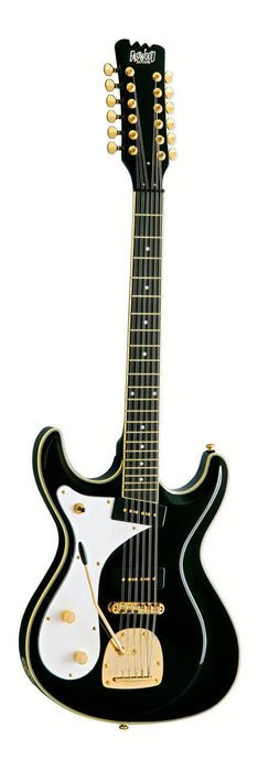 Eastwood Sidejack Deluxe 12 String Black Left Handed