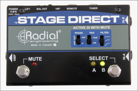 Radial Engineering StageDirect Muting DI box