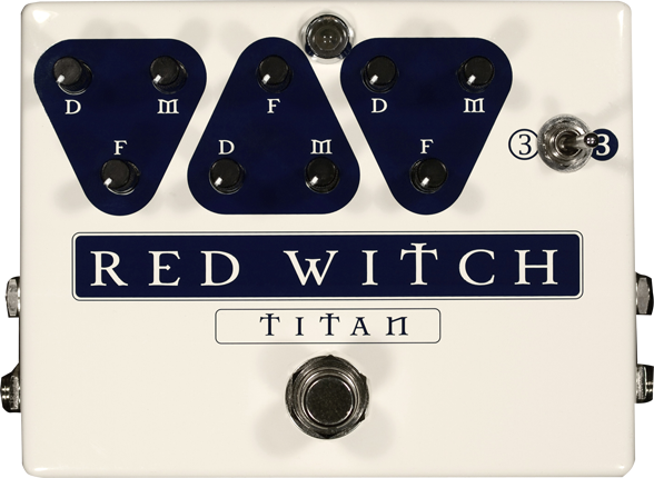 Red Witch Titan Triple Delay Pedal Guitar Effect Pedal RedWitch