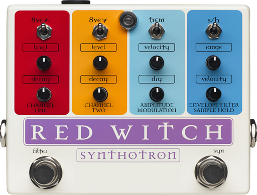Red Witch Synthotron Analog Synth, Samplehold, Envelope Filter  Guitar Effect Pedal RedWitch