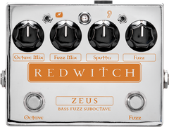 Red Witch Zeus Bass Fuzz Suboctave Guitar Effect Pedal RedWitch