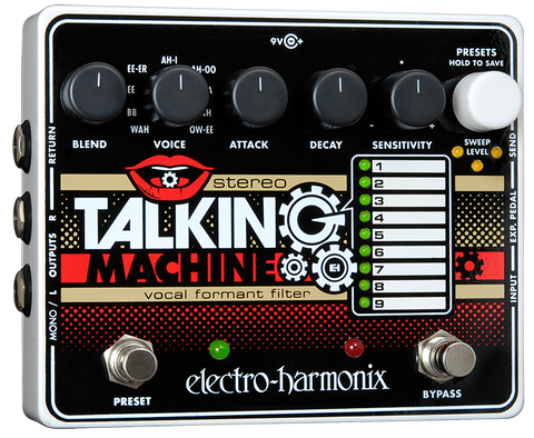 Electro Harmonix Stereo Talking Machine Vocal Formant Filter Guitar Pedal