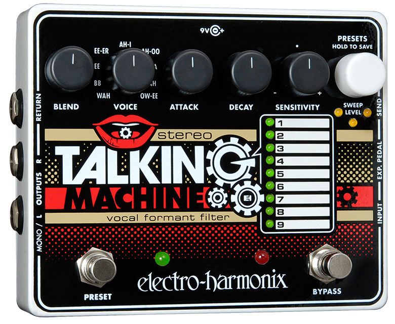 Electro-Harmonix Stereo Talking Machine Vocal Formant Filter Guitar Pedal