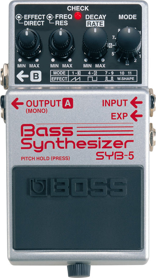 Boss SYB-5 Bass Guitar Synthesizer Effect Pedal