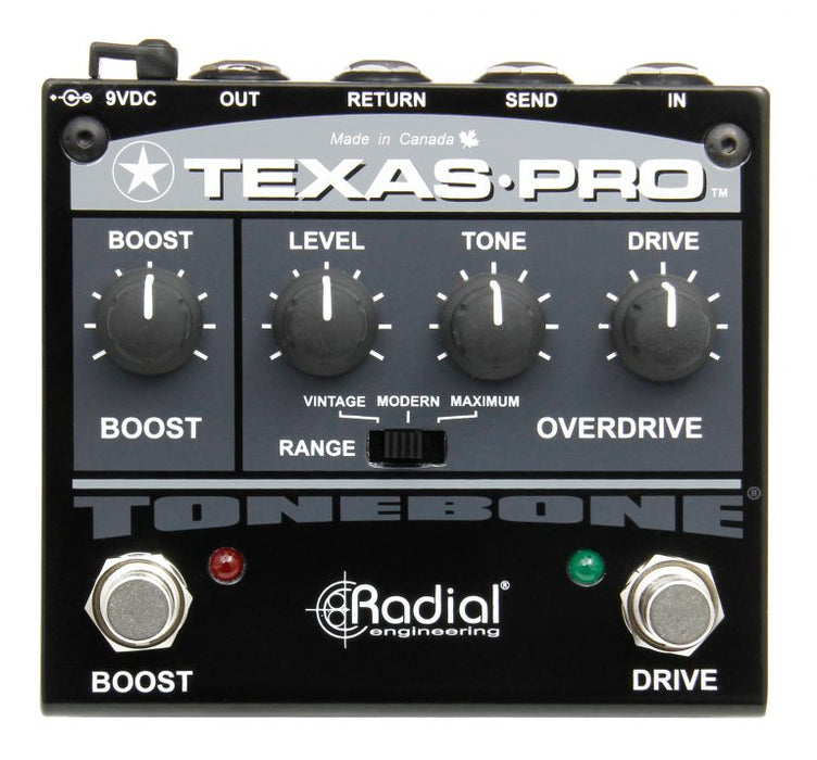 Radial Engineering Tonebone Texas Pro Overdrive and Boost Guitar Effect Pedal