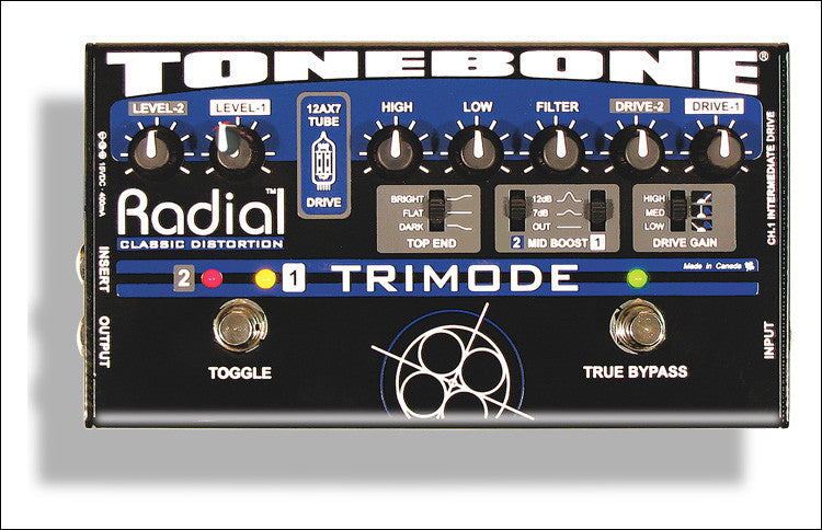 Radial Engineering ToneBone Trimode Guitar Distortion Pedal