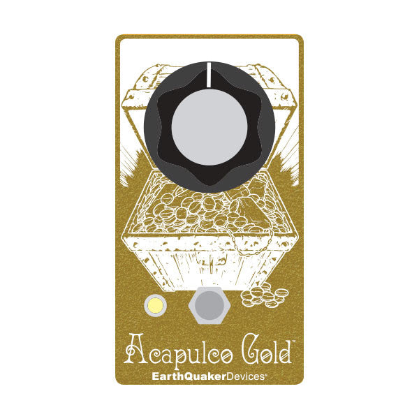 Earthquaker Devices Limited Edition White and Gold Acapulco Gold Distortion/Fuzz Guitar Effect Pedal