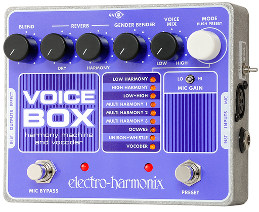 Electro-Harmonix Voice Box Vocal Harmony Machine/Vocoder Guitar Pedal