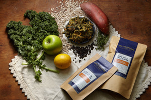 Open image in slideshow, Sweet Potato & Beef Bone Broth Kale Chips - Kaleidoscope Foods Organic Kale Chips