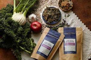 Fennel with Fuji Apple & Lamb Bone Broth Kale Chips - Kaleidoscope Foods
