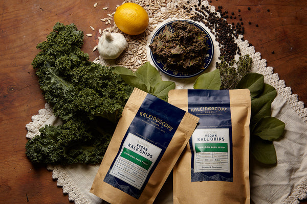 Heirloom Basil Pesto Vegan Kale Chips