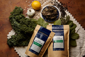 Open image in slideshow, Vegan Kale Chips - Mixed Flavor Case - Kaleidoscope Foods Organic Kale Chips