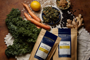 Vegan Kale Chips - Mixed Flavor Case - Kaleidoscope Foods Organic Kale Chips
