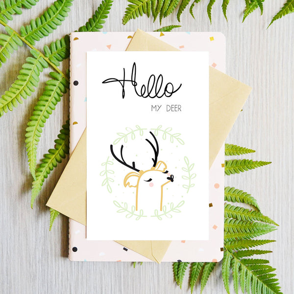 Card Hello My Deer