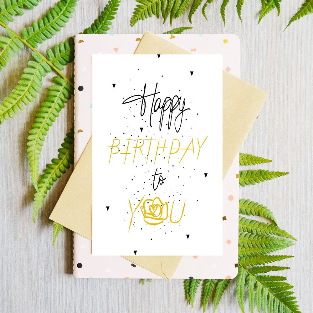 Card Happy Birthday To You