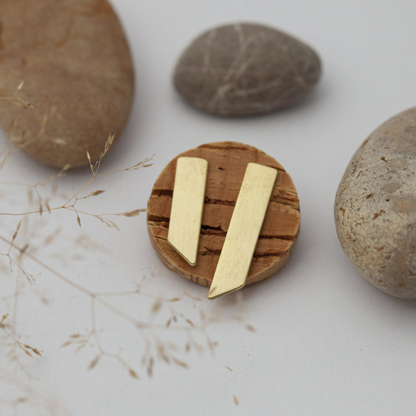Asymmetric Arrow Brass Earrings
