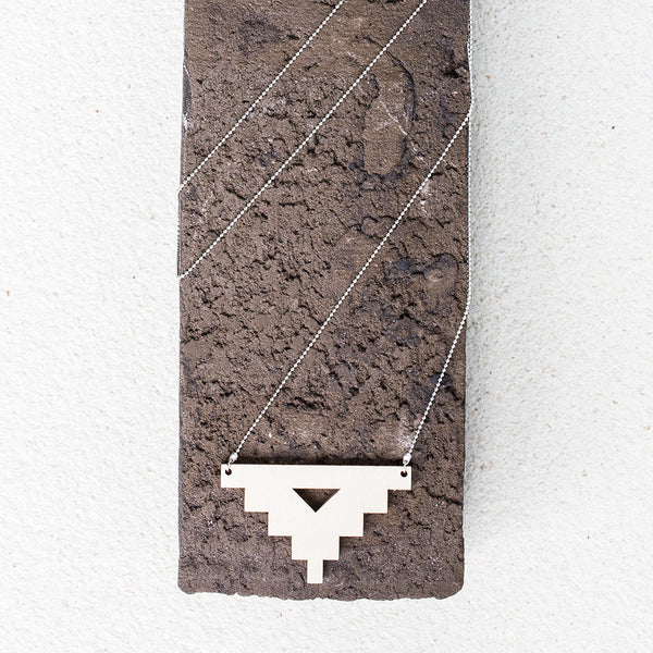 Wooden Geometric Long Necklace