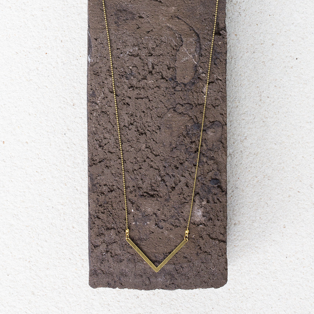 Thin Chevron Necklace