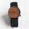 Winston Black Wood Watch