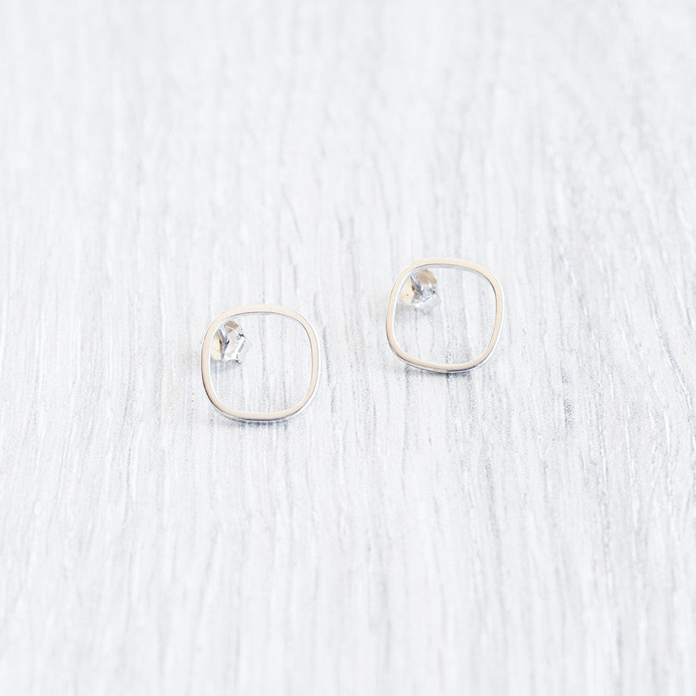 Round Square Earrings