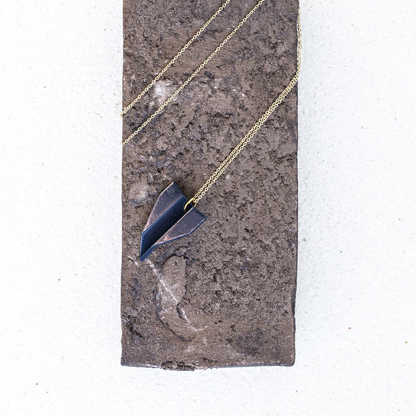Paperplane Arrow Necklace
