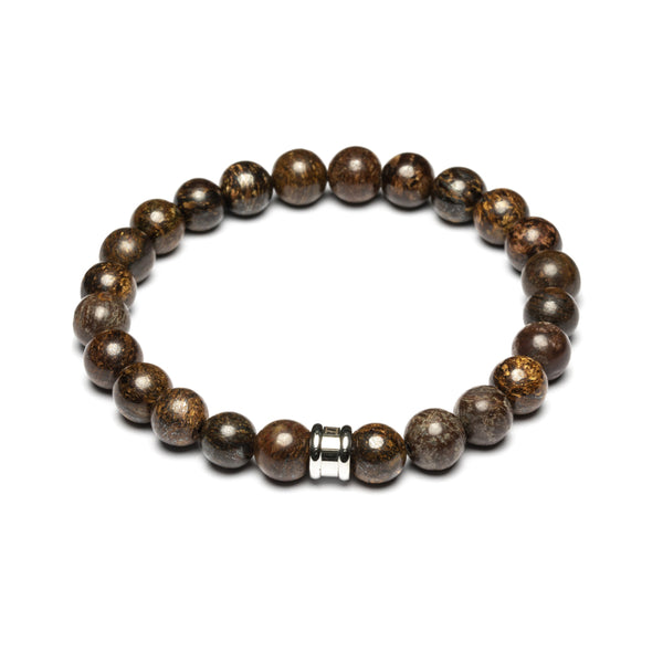 Alpha Brown Stones Bracelet