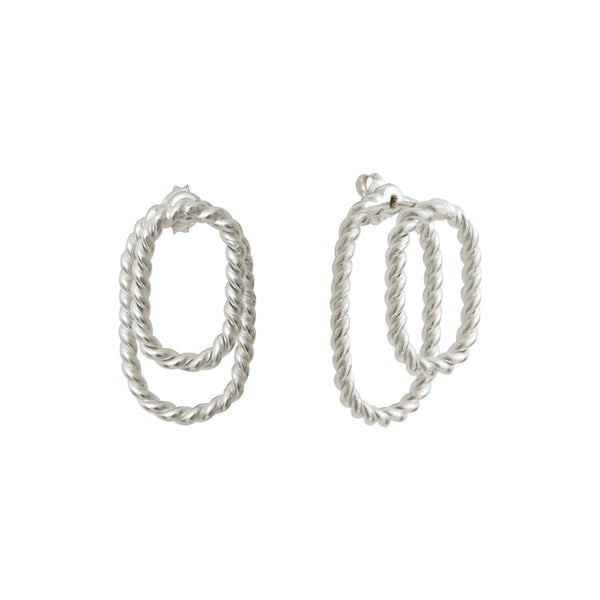 Aphéléia Ombrée Twist Silver Earrings