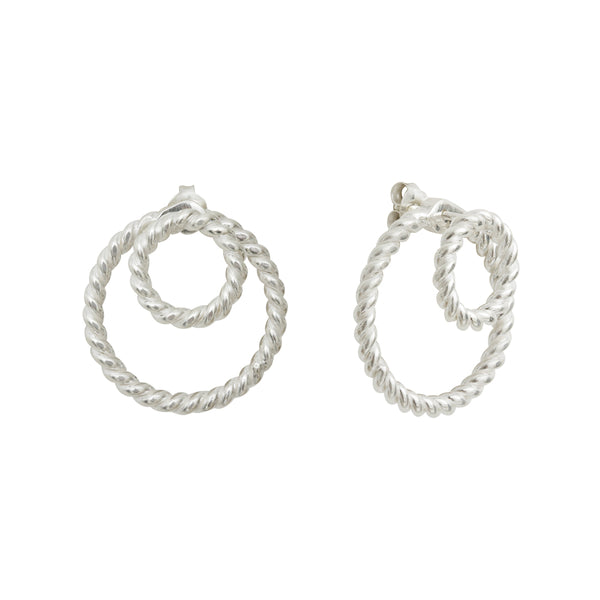Calista Ombrée Twist Silver Earrings