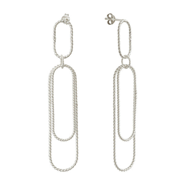 Aphéléia Versatile Twist Silver Earrings