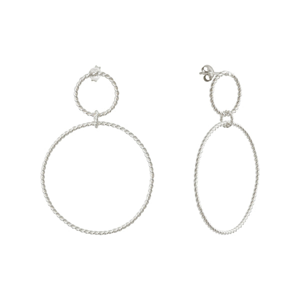 Calista Nue Twist Silver Earrings