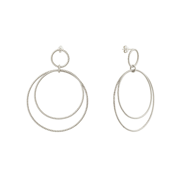 Calista Versatile Twist Silver Earrings