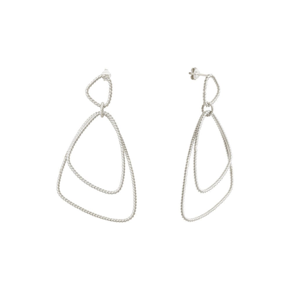 Héméra Versatile Twist Silver Earrings
