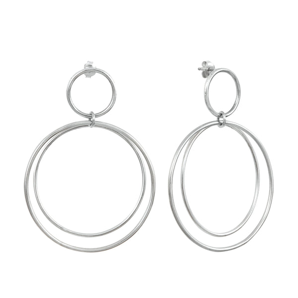 Calista Versatile Silver Earrings