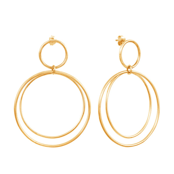 Calista Versatile Goldplated Earrings