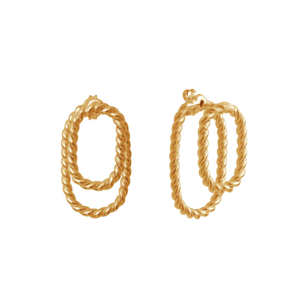 Aphéléia Ombrée Twist Goldplated Earrings