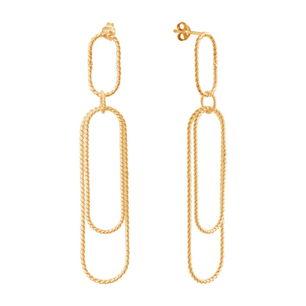 Aphéléia Versatile Twist Goldplated Earrings