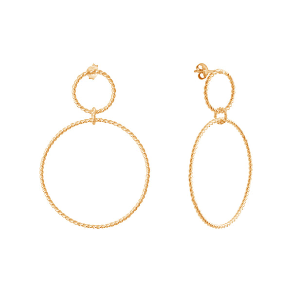 Calista Nue Twist Goldplated Earrings