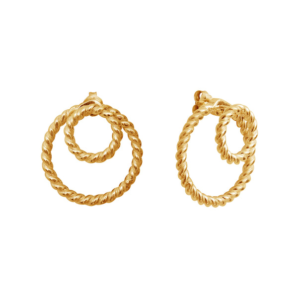 Calista Ombrée Twist Goldplated Earrings