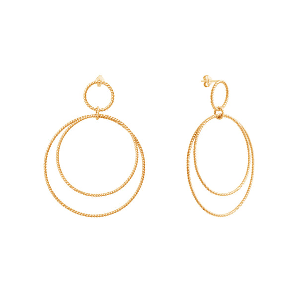 Calista Versatile Twist Goldplated Earrings