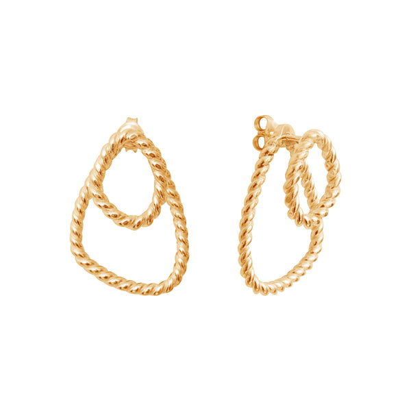 Héméra Ombrée Twist Goldplated Earrings