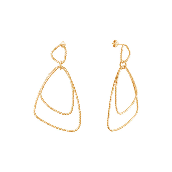 Héméra Versatile Twist Goldplated Earrings