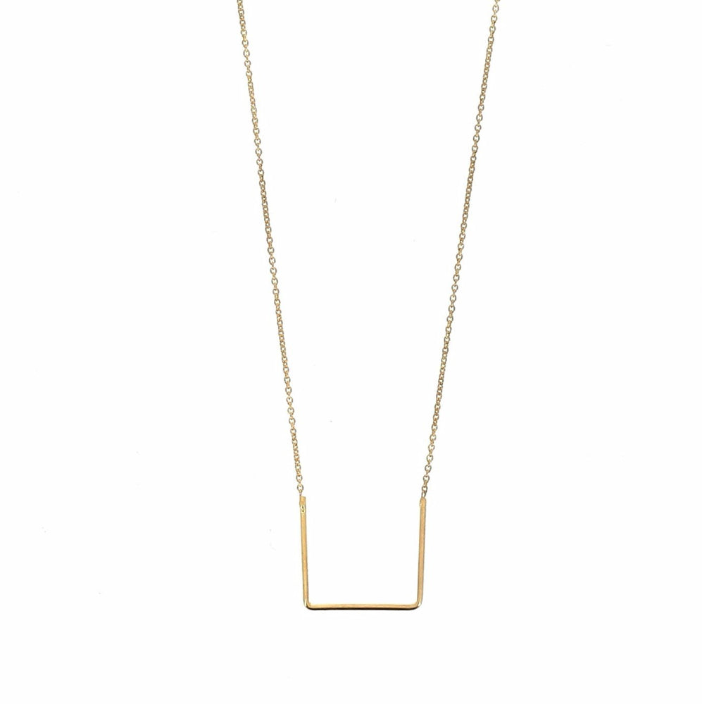 Unity Square Goldplated Necklace