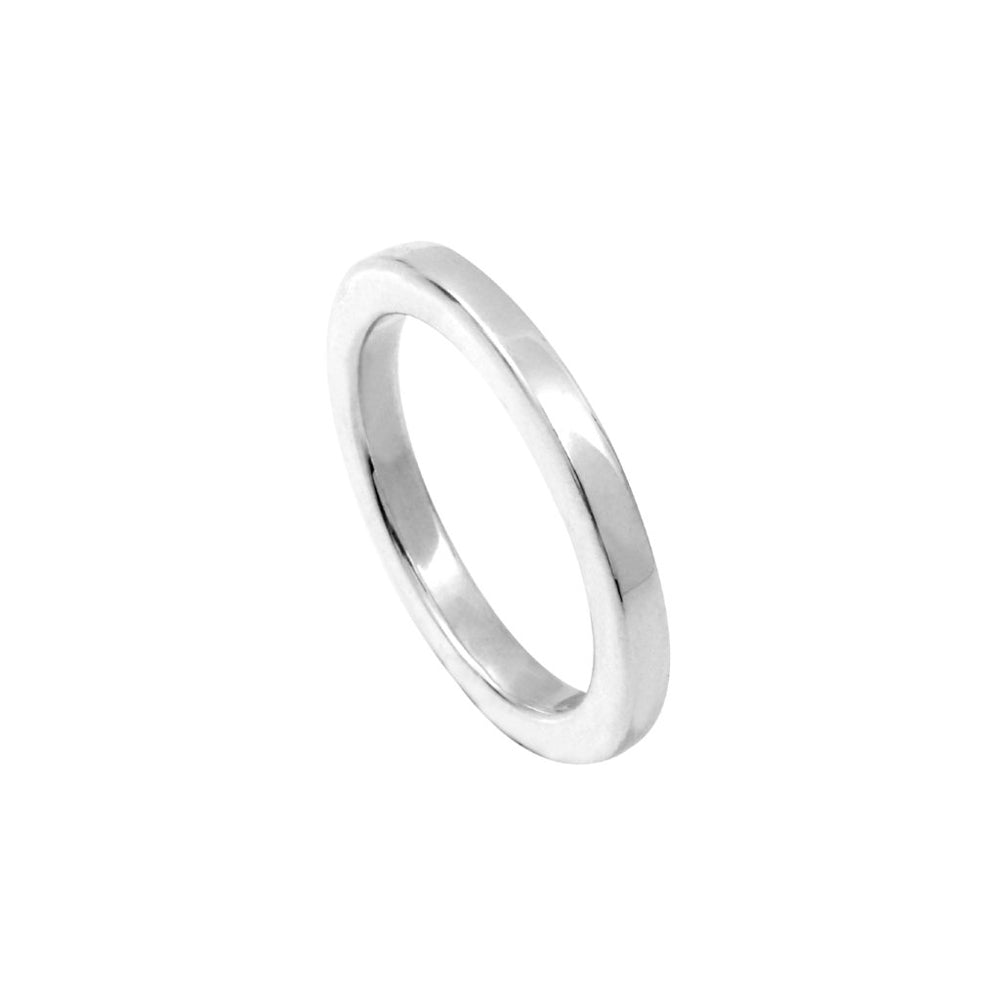 Closed Wire 3mm Silver Ring