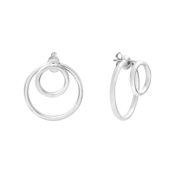 Calista Ombrée Silver Earrings