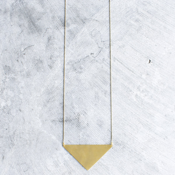 Asymmetric Triangle Necklace