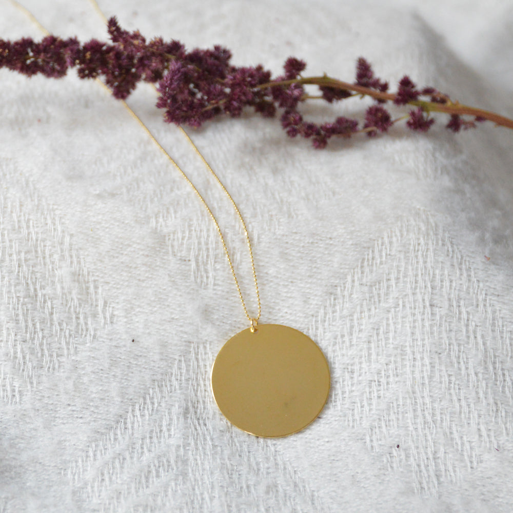 Disk Long Necklace