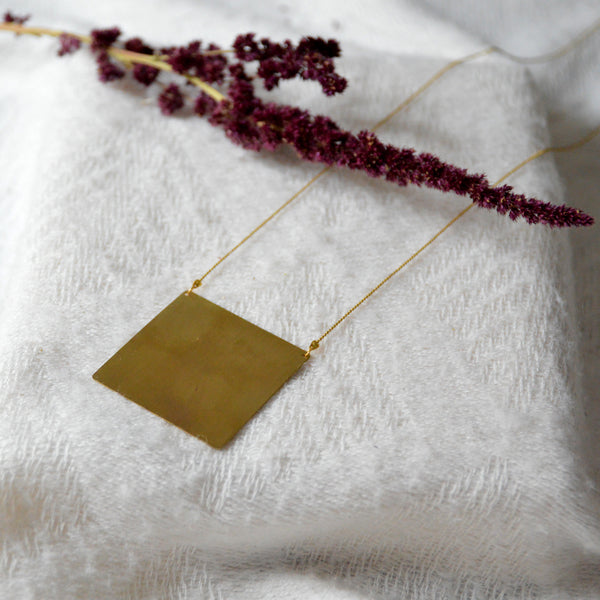 Square Long Necklace