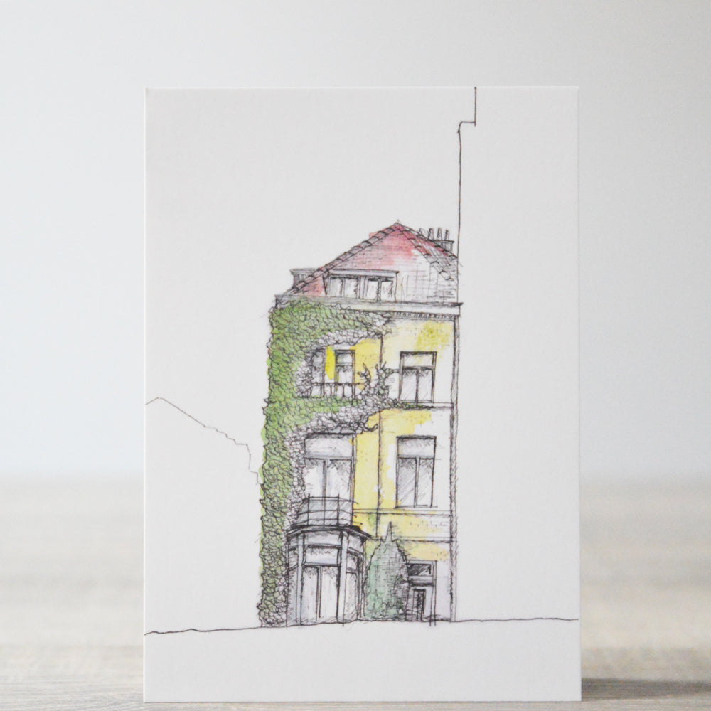 "Brussels House Card ""Square Ambiorix"""