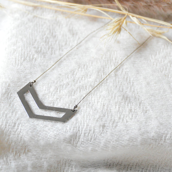 Double Chevron Necklace